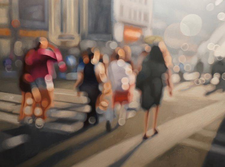 Художник Филипп Барлоу носит очки из-за сильной миопии и написал серию картин, как он видит без очков.
